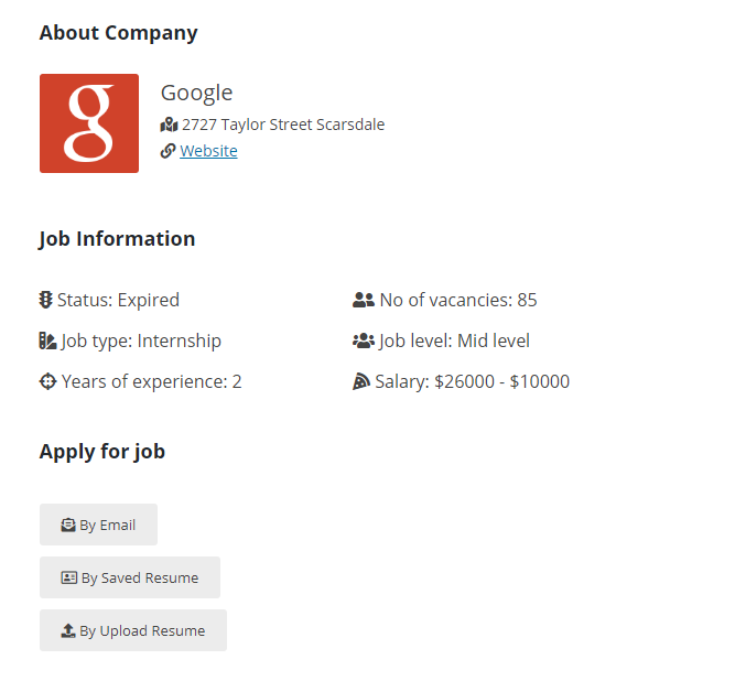 Job Board Manager - Application Manager 1