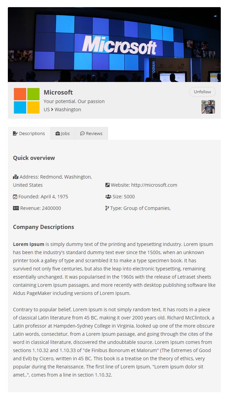 Job Board Manager - Company Profile 2