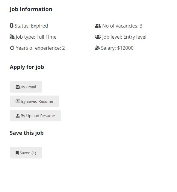 Job Board Manager - Saved Jobs 2