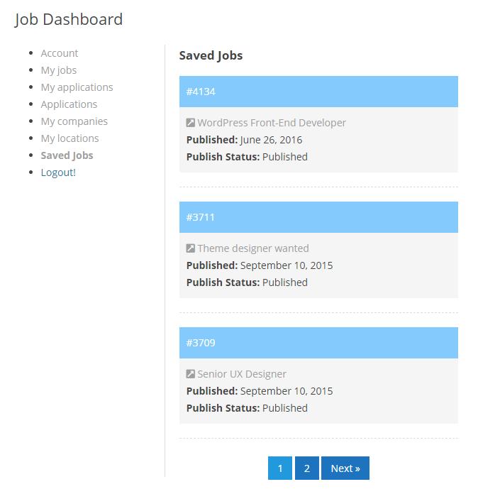Job Board Manager - Saved Jobs 1