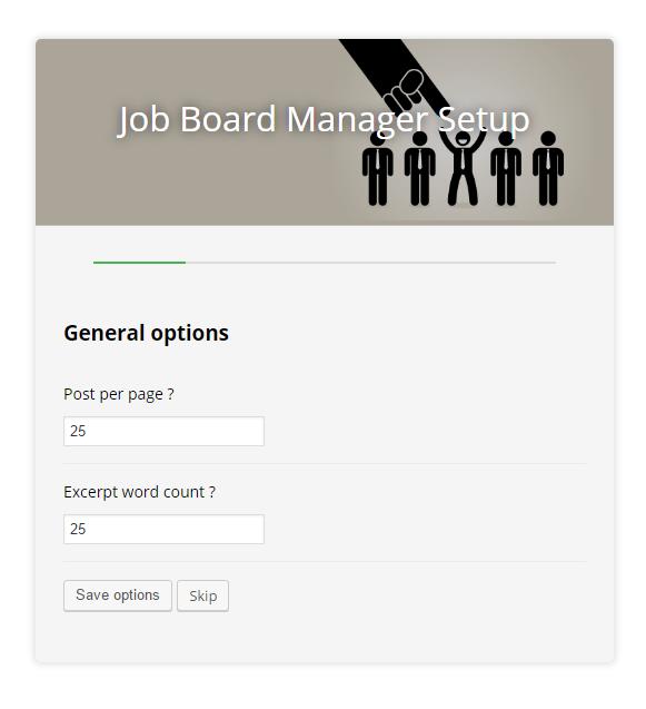 Job board manager - Setup 1