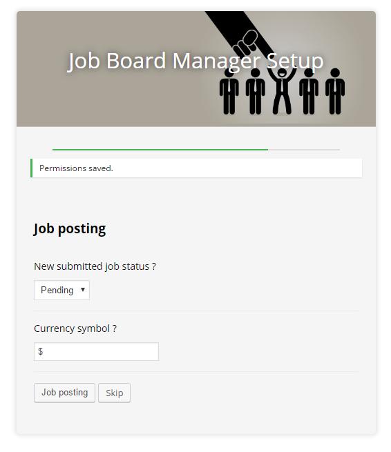 Job board manager - Setup 3