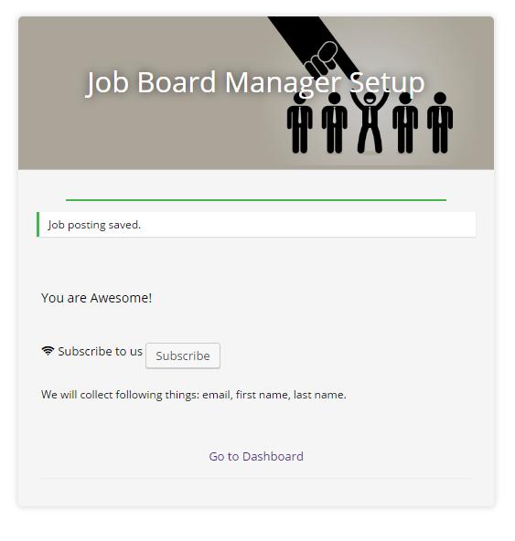Job board manager - Setup 4