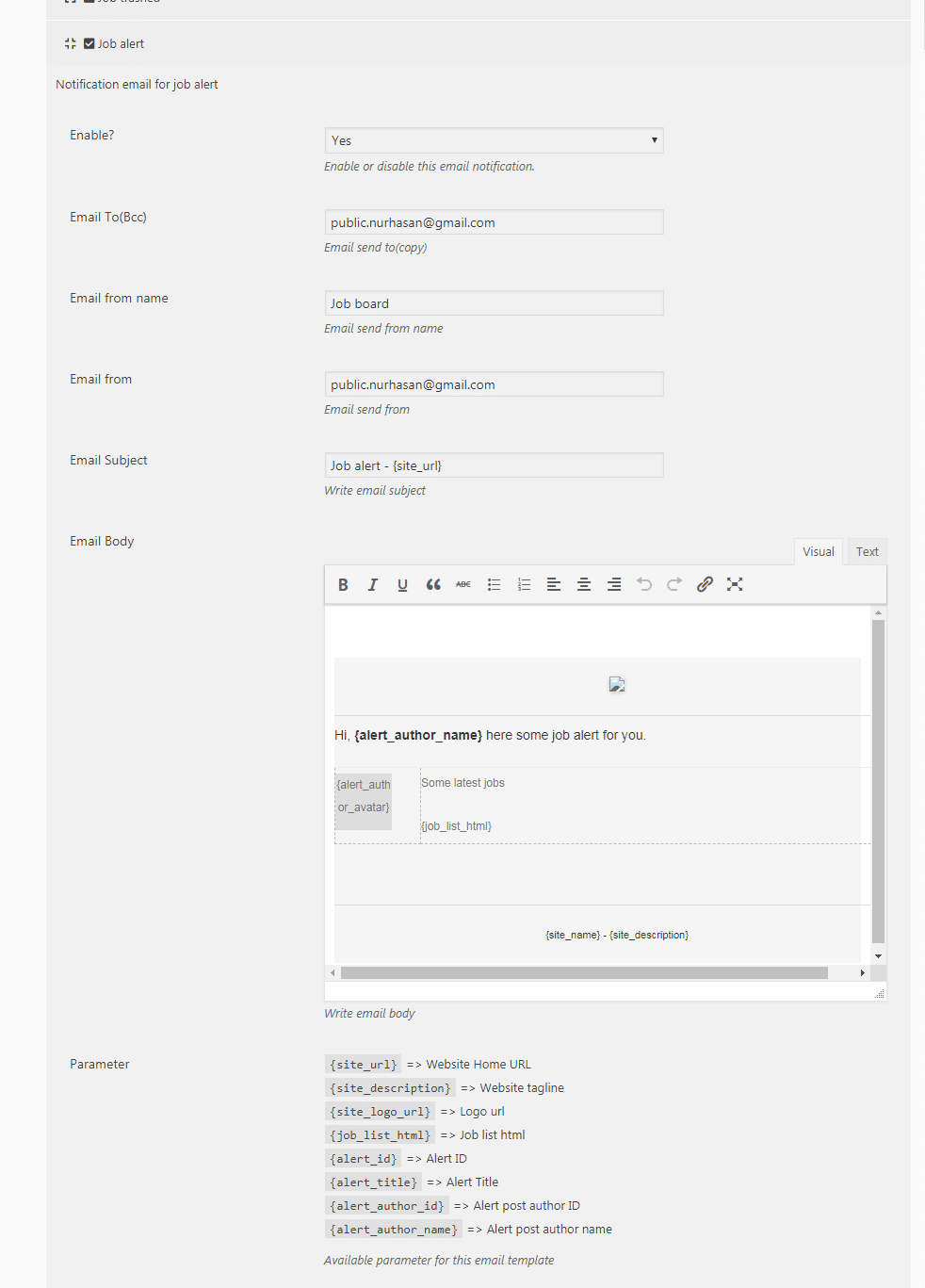 Job Plugin WordPress